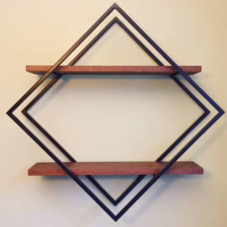 Modern Diamond Shelves by Long White Beard Furniture