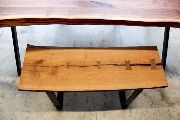 Live Edge Benches by Long White Beard Furniture