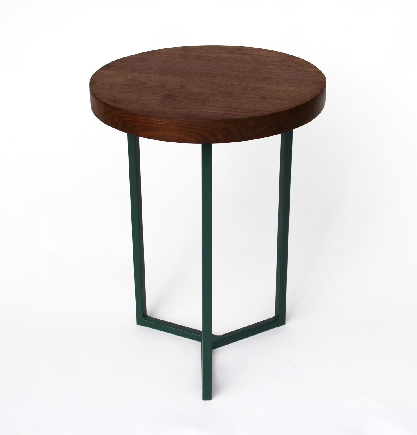 Modern Round Side Table by Long White Beard Furniture