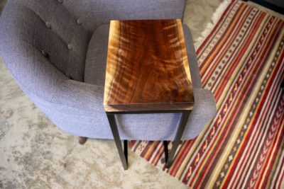 Live Edge Wood Sofa Table by Long White Beard Furniture