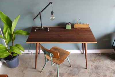 Mid Century Desk with McCobb Legs by Long White Beard Furniture