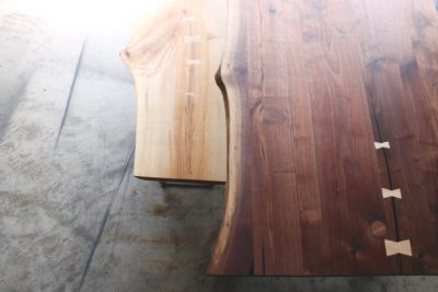 Live Edge Dining Table and Bench by Long White Beard Furniture