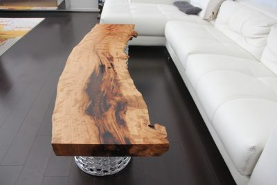 Modern Live Edge Coffee Table by Long White Beard Furniture