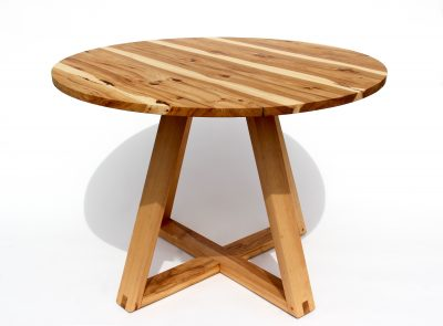 Round Kitchen Bistro Table by Long White Beard Furniture