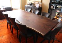 Live Edge Wood Dining Table by Long White Beard Furniture