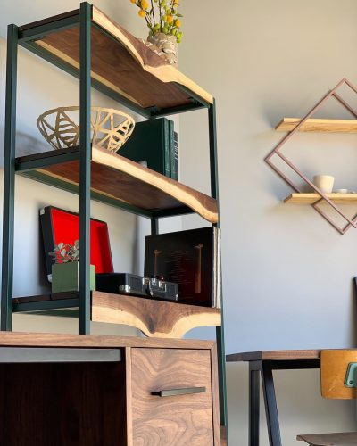 Custom Bookcase Shelving Unit by Long White Beard Furniture