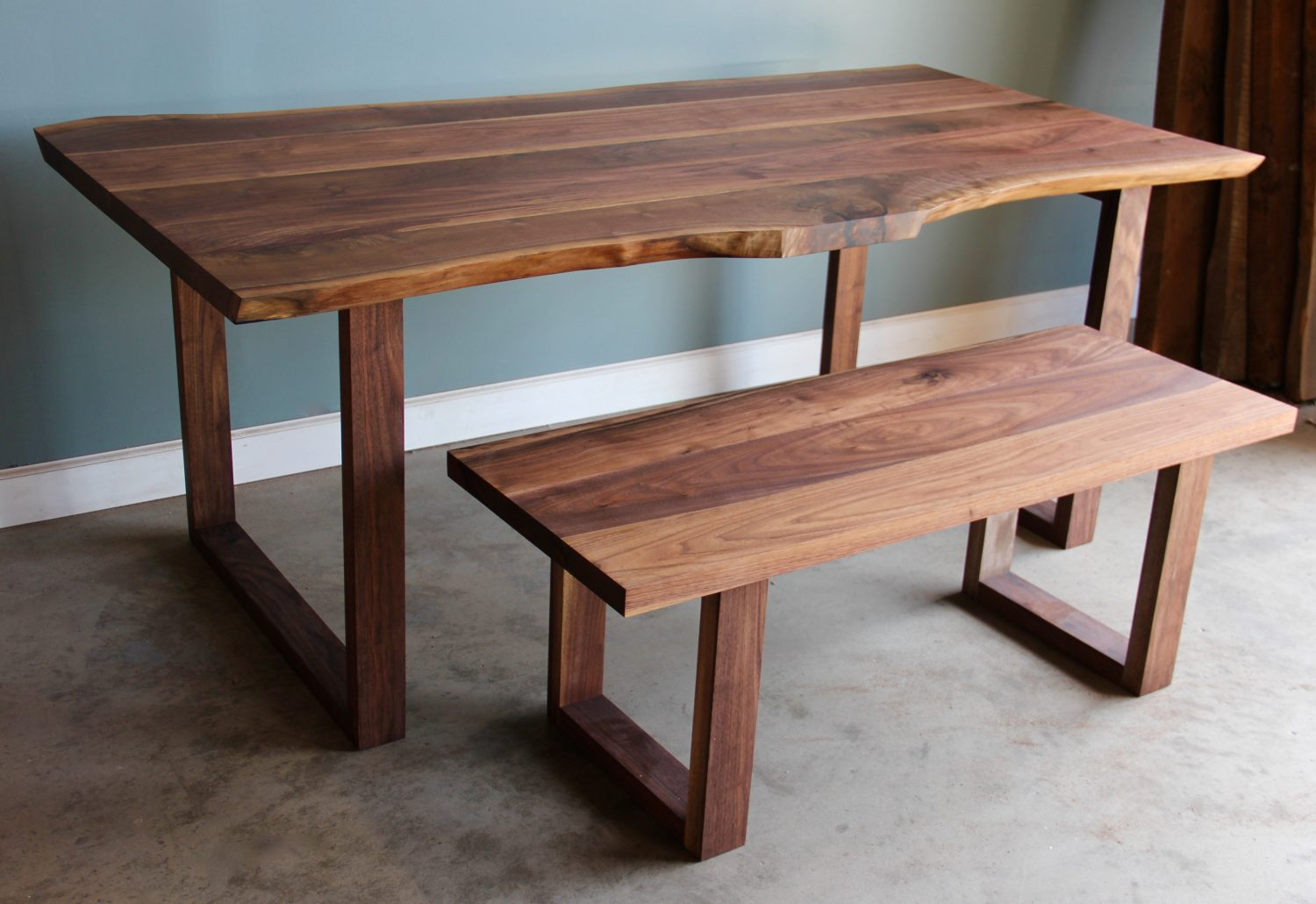 Live Edge Dining Room Tables And Kitchen Tables - Long White ...