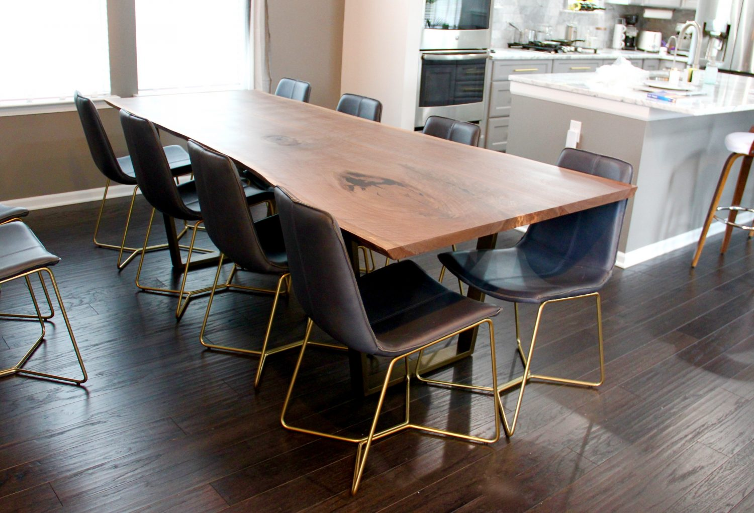 Live Edge Dining Room Tables And Kitchen Long White