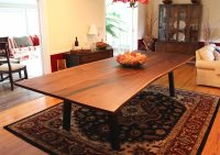 Walnut Live Edge Dining Table by Long White Beard Furniture
