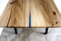 Live Edge Epoxy Resin Dining Table by Long White Beard